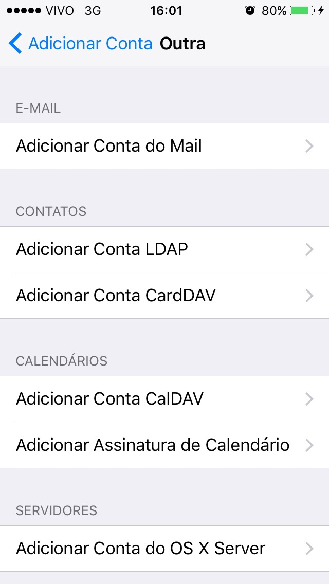 de0c7aaf2f Configurando sua conta de E-mail no iPhone/iPad